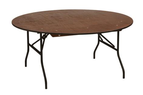 Træbord, rundt, Ø 160