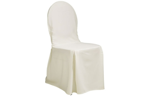 Polstret stol m. råhvidt overtræk