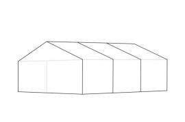6 x 9 meter telt - ca. 32 til 52 personer