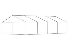 6 x 12 meter telt - ca. 56 til 82 personer