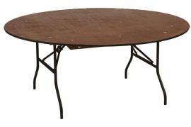 Træbord, rundt, Ø 180